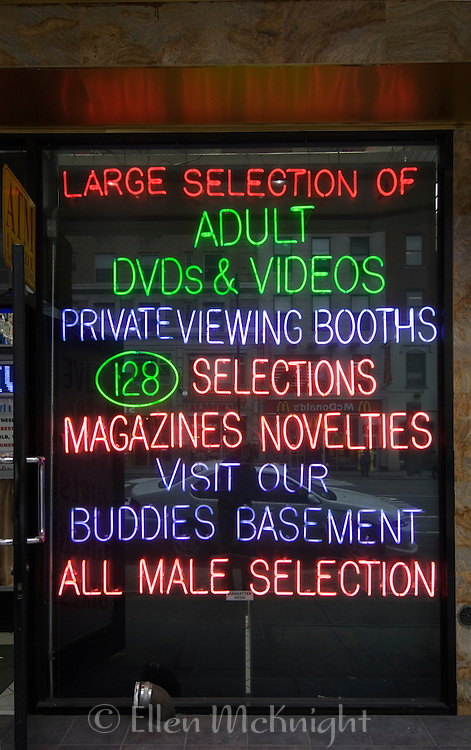 Adult Video Store near Times Square in Manhattan