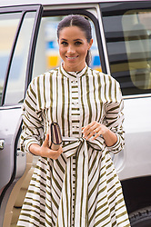 The Duchess of Sussex arrives to view an exhibition of Tongan handicrafts at the Fa'onelua Convention Centre, in Nuku'Alofa, Tonga, on day two of the royal couple's visit to Tonga.