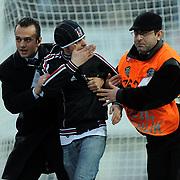 Besiktas's supporters during their Turkish superleague soccer match Besiktas between IBBSpor at BJK Inonu Stadium in Istanbul Turkey on Sunday, 11 December 2011. Photo by TURKPIX