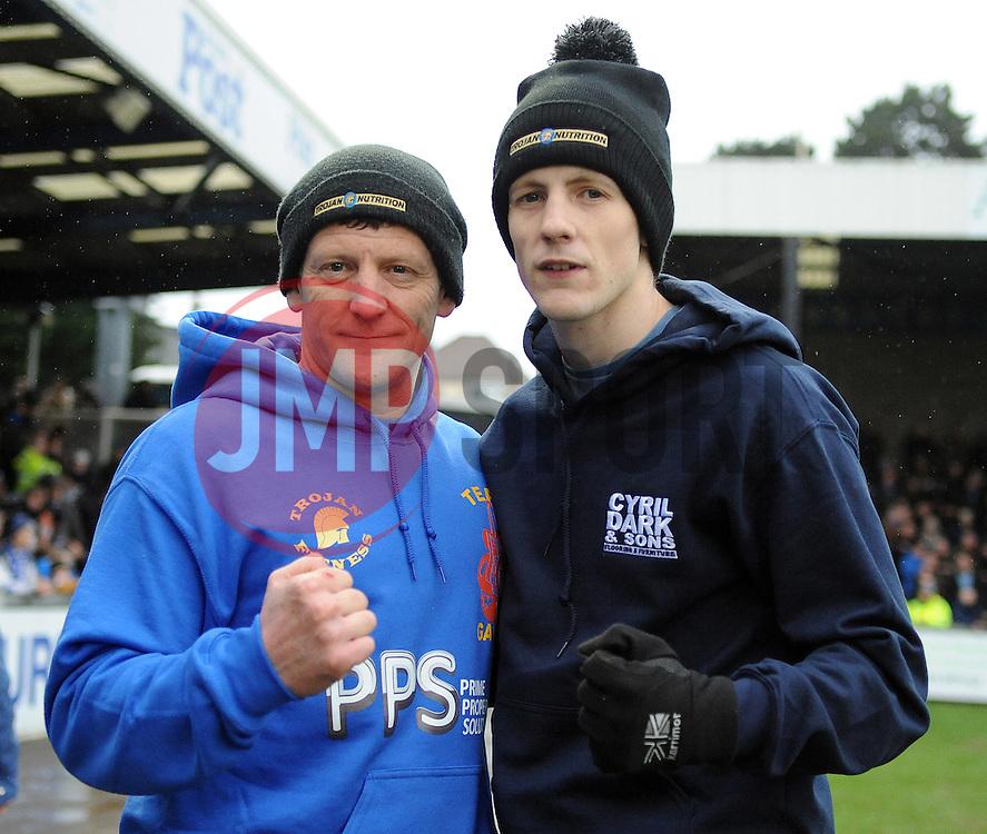 Chris Winters with Duane(The Gasman) Winters - Mandatory by-line: Neil Brookman/JMP - 25/02/2017 - FOOTBALL - Memorial Stadium - Bristol, England - Bristol Rovers v Scunthorpe United - Sky Bet League One