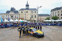 June 11, 2018 - Le Mans, FRANCE - 56 TEAM PROJECT 1 (DEU) PORSCHE 911 RSRS GTE JORG BERGMEISTER (DEU) EGIDIO PERFETTI (NOR) PATRICK LINDSEY  (Credit Image: © Panoramic via ZUMA Press)