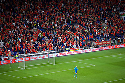 CARDIFF, WALES - Friday, September 6, 2019: Wales supporters during the UEFA Euro 2020 Qualifying Group E match between Wales and Azerbaijan at the Cardiff City Stadium. (Pic by Paul Greenwood/Propaganda)