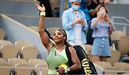 Serena Williams of the United States after the fourth round of the Roland-Garros 2021, Grand Slam tennis tournament on June 6, 2021 at Roland-Garros stadium in Paris, France - Photo Rob Prange / Spain ProSportsImages / DPPI / ProSportsImages / DPPI