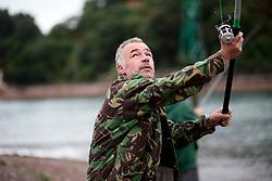UK ENGLAND DEVON TEIGNMOUTH 10SEP16 - Angler  and carpenter Gerry Chenery (45) of Lapford at Teignmouth harbour, Devon, England.<br /> <br /> jre/Photo by Jiri Rezac<br /> <br /> © Jiri Rezac 2016