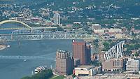 Covington Kentucky Aerial Skyline Ohio River Bridges