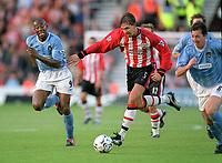 Paulo Wanchope (Man City) Claus Lundekvam (Southampton). Southampton v Manchester City. 1/11/2003. Credit : Colorsport/Andrew Cowie.