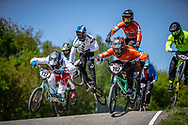#122 (TOUGAS Alex) CAN and #192 (VAN DER BURG Dave) NED at Round 4 of the 2018 UCI BMX Superscross World Cup in Papendal, The Netherlands