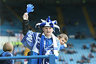 A young Sheffield Wednesday fan during the EFL Sky Bet Championship play off second leg match between Sheffield Wednesday and Huddersfield Town at Hillsborough, Sheffield, England on 17 May 2017. Photo by John Potts.