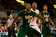 DALLAS, TX - JANUARY 15: Victor Rudd #2 of the South Florida Bulls boxes out against the SMU Mustangs on January 15, 2014 at Moody Coliseum in Dallas, Texas.  (Photo by Cooper Neill/Getty Images) *** Local Caption *** Victor Rudd
