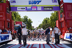 Riders line up for Madrid Challenge by la Vuelta 2017 - a 87 km road race on September 10, 2017, in Madrid, Spain. (Photo by Sean Robinson/Velofocus.com)