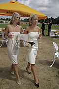 Louise Redknap and Sophia de Stefano , Veuve Clicquot Gold Cup 2006. Final day. 23 July 2006. ONE TIME USE ONLY - DO NOT ARCHIVE  © Copyright Photograph by Dafydd Jones 66 Stockwell Park Rd. London SW9 0DA Tel 020 7733 0108 www.dafjones.com