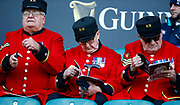 Chelsea Pensioners before kick off during the Guinness Six Nations between England and Ireland at Twickenham  Stadium, Sunday, Feb. 23, 2020, in London, United Kingdom. (ESPA-Images/Image of Sport)