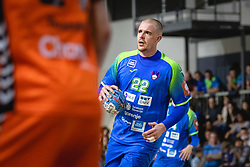 Matej Gaber of Slovenia during friendly handball match between Slovenia and Nederland, on October 25, 2019 in Športna dvorana Hardek, Ormož, Slovenia. Photo by Blaž Weindorfer / Sportida