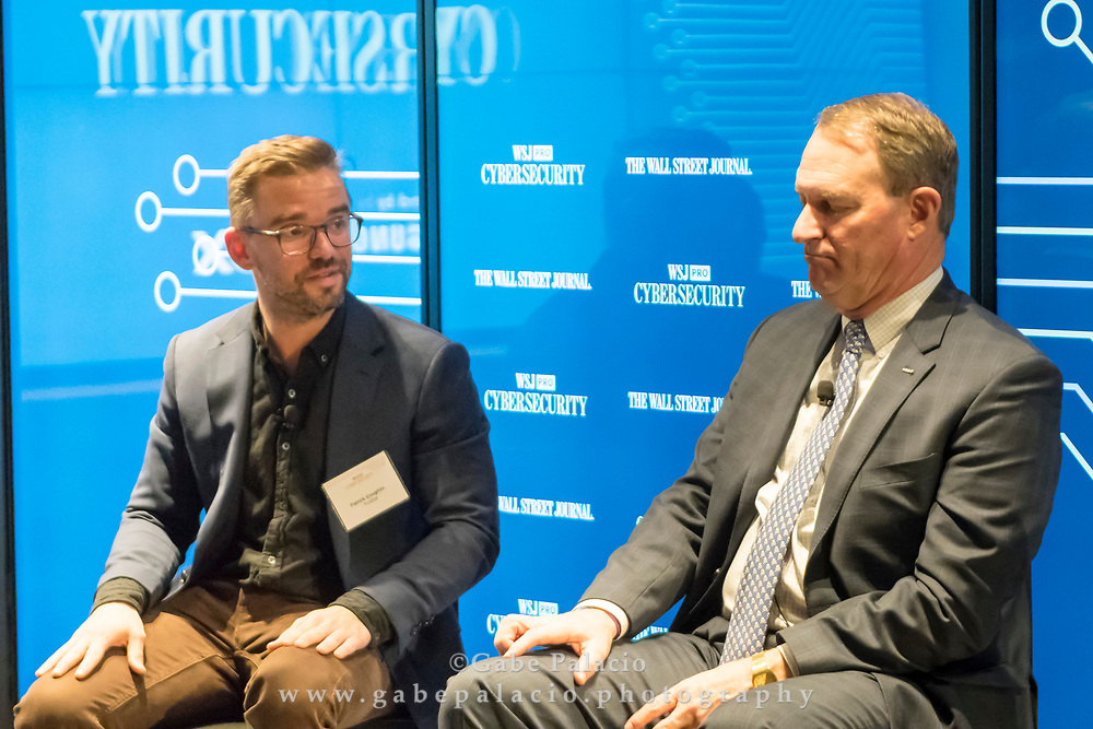 The WSJpro Cybersecurity event featuring Patrick Coughlin, COO TruStar, and John Felker, Director, National Cybersecurity and Communications Integration Center, U.S. Department of Homeland Security, in New York City on December 12, 2017. (photo by Gabe Palacio)