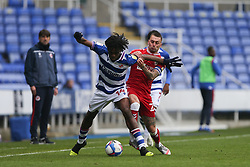 Jack Hunt of Bristol City and Ovie Ejaria of Reading tussle for the ball - Mandatory by-line: Arron Gent/JMP - 28/11/2020 - FOOTBALL - Madejski Stadium - Reading, England - Reading v Bristol City - Sky Bet Championship
