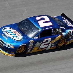 April 17, 2011; Talladega, AL, USA; NASCAR Sprint Cup Series driver Brad Keselowski (2) during the Aarons 499 at Talladega Superspeedway.   Mandatory Credit: Derick E. Hingle