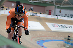 February 28, 2019 - Pruszkow, Poland - Hetty van de Wouw (NED) on day two of the UCI Track Cycling World Championships held in the BGZ BNP Paribas Velodrome Arena on February 28, 2019 in Pruszkow, Poland. (Credit Image: © Foto Olimpik/NurPhoto via ZUMA Press)
