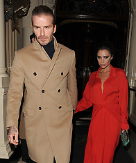 Victoria and David Beckham - 07 Dec 2018