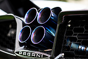 August 15, 2019:  Pebble Beach Concours, Pagani exhaust