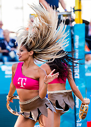 17-07-2018 NED: CEV DELA Beach Volleyball European Championship day 3<br /> Entertainment during the match of Christiaan Varenhorst #1 NED and Jasper Bouter #2 NED, T Mobile dance babes