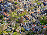 Nederland, Noord-Holland, Bergen, 07-05-2021; centrum van Bergen met Oude Ruïnekerk en Oude Prinsweg.<br /> luchtfoto (toeslag op standaard tarieven);<br /> aerial photo (additional fee required)<br /> copyright © 2021 foto/photo Siebe Swart