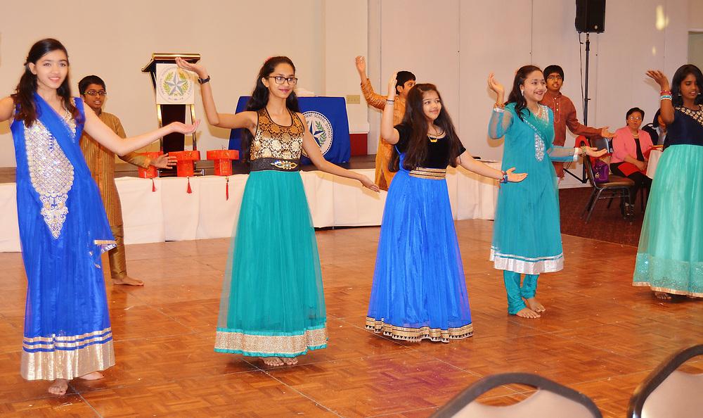 TH Rogers students perform a Diwali dance.