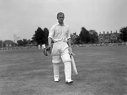 Prince Philip, Duke of Edinburgh walks out on to the pitch at Dean Park, Bournemouth for the match between the Duke's County Players Team and Hampshire in a match to aid the National Playing Fields Association.