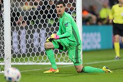 13-06-2016 FRA: UEFA EURO Belgie - Italie, Lyon<br /> België verliest met 2-0 van Italie / Thibaut Courtois (BEL)<br /> ***NETHERLANDS ONLY***