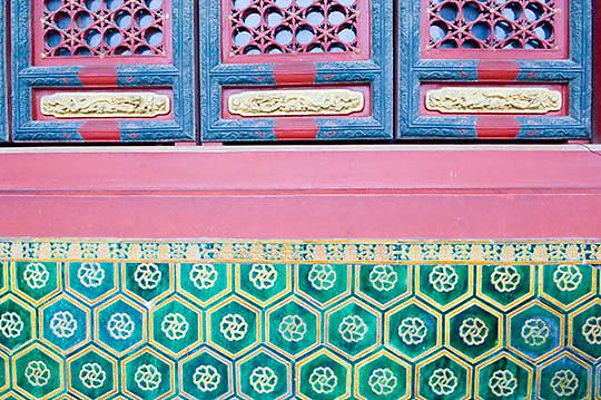 Beijing, China. Image taken within the Yonghe Palace. Asia.