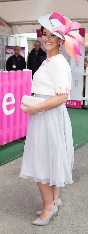 28/07/2016    Susan Burke from Athlone  at the g Hotel & Spa Best Dressed lady competition on Ladies day of The Galway Races  . Photo:Andrew Downes, xposure