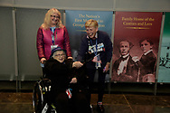 Norma Merrill, her daughter Jane and Honor Flight Maine nurse Crystal Guerrette at The Women's Memorial.