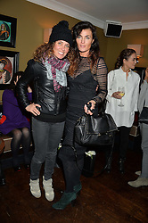 Left to right, TARA SMITH and LYNN RENEE at a party to launch Madderson London Women's Wear held at Beaufort House, 354 Kings Road, London on 23rd January 2014.