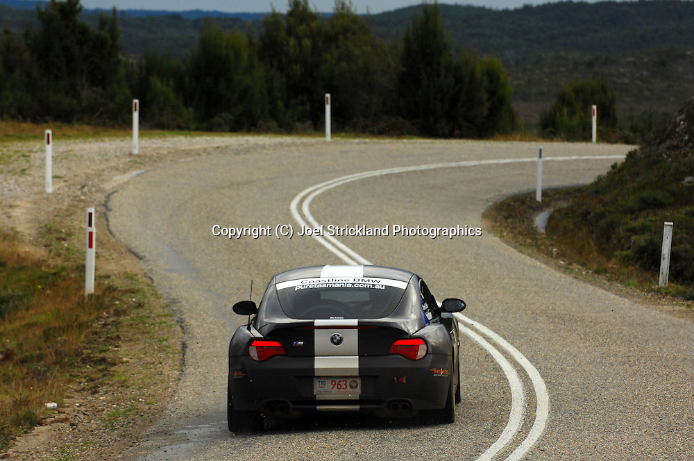 #963 - Brian Robinson & Brad Robinson - 2007 BMW Z4 M Coupe.Day 4.Targa Tasmania 2010.1st of May 2010.(C) Joel Strickland Photographics.Use information: This image is intended for Editorial use only (e.g. news or commentary, print or electronic). Any commercial or promotional use requires additional clearance.