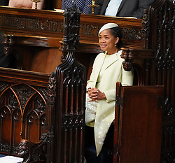 File photo dated 19/05/18 of the Duchess of Sussex's mother Doria Ragland, seated on her own at the royal wedding. The Duke and Duchess of Sussex's baby will have a host of relatives he or she is unlikely to see much of, if at all, the Markles.