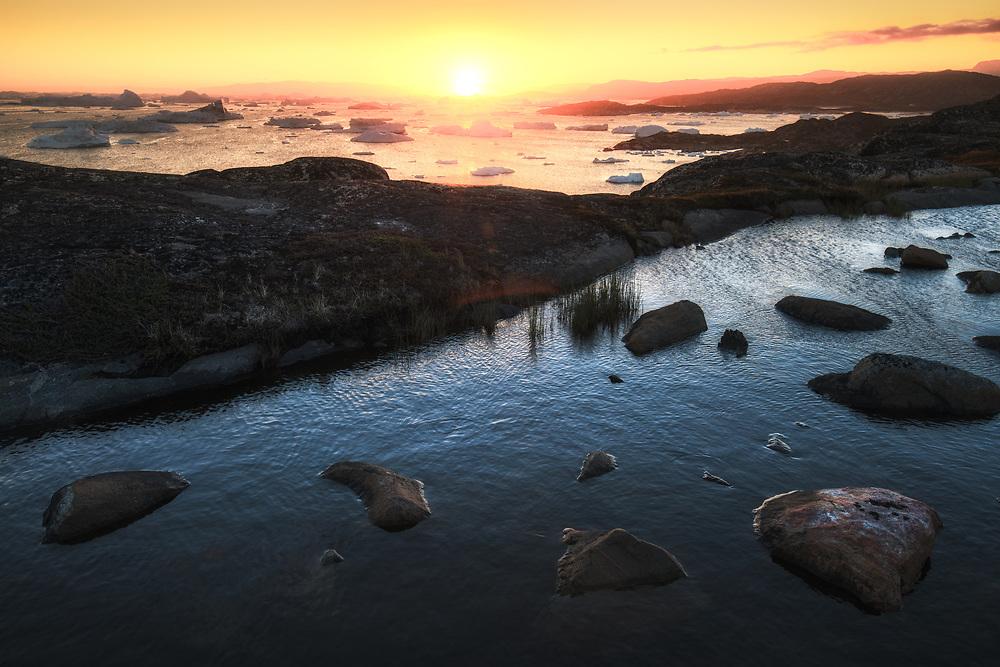 Sunset at Disco Bay, Greenland