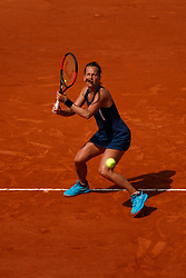 June 3, 2018 - Paris, U.S. - PARIS, FRANCE  - JUNE 03: BARBORA ZAHLAVOVA STRYCOVA (CZE) during the French Open on June 03, 2018, at Stade Roland-Garros in Paris, France.(Photo by Chaz Niell/Icon Sportswire) (Credit Image: © Chaz Niell/Icon SMI via ZUMA Press)