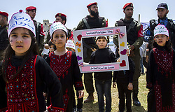 April 27, 2017 - Gaza City, The Gaza Strip, Palestine - Palestinians participate in a solidarity demonstration with Palestinian prisoners in a hunger strike in Israeli jails in Gaza City on 27 April 2017. Palestinians began a long-term hunger strike in a tent in solidarity with Palestinian prisoners in Gaza jails. April 27, April 2017. Some 1,500 Palestinian prisoners joined a hunger strike that began earlier this week. (Credit Image: © Mahmoud Issa/Quds Net News via ZUMA Wire)