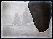 deteriorating image of a day at the sea France 1923
