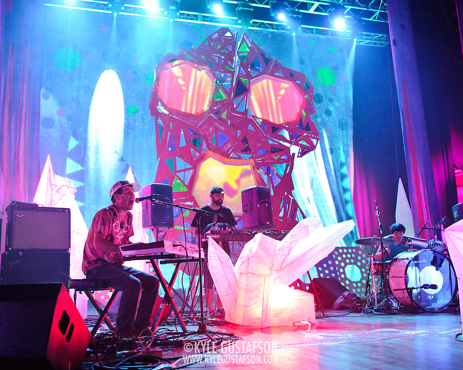 WASHINGTON, DC - July 9th, 2011 - Avey Tare, Geologist and Panda Bear of Animal Collective perform at Merriweather Post Pavilion in Columbia, MD. The band named their eighth studio album after the venue.  (Photo by Kyle Gustafson/For The Washington Post)