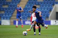 Courtney Senior of Colchester United takes a tumble - Mandatory by-line: Arron Gent/JMP - 03/10/2020 - FOOTBALL - JobServe Community Stadium - Colchester, England - Colchester United v Oldham Athletic - Sky Bet League Two