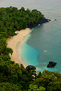 Banana beach seen from Roca(farm) belo Monte lookout. This beach became very famous because Baccardi filmed an advertising in this location.