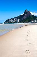 footprint of leblon beach in rio de janeiro brazil
