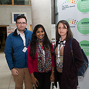 31.08. 2017.                                   <br /> Leaders in the pharmaceutical manufacturing sector in Ireland gathered at University of Limerick today for the third annual Pharmaceutical Manufacturing Technology Centre (PMTC) Knowledge Day.<br /> <br /> Pictured at the event were, William McCarthy, Teagasc, Bhavya Panikuttira, Teagasc and Norah O'Shea, Teagasc.<br /> <br /> The event provided a showcase for the cutting-edge research supported by the centre with key note addresses from industry thought leaders who shared their vision of the future for the pharmaceutical sector. Picture: Alan Place