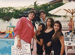 """Kim Kardashian releases a photo on Twitter with the following caption: """"""""Always loved this pic when me and Kourt and our friend Court were extras on my parents Stair Climber Plus infomercials"""""""". Photo Credit: Twitter *** No USA Distribution *** For Editorial Use Only *** Not to be Published in Books or Photo Books ***  Please note: Fees charged by the agency are for the agency's services only, and do not, nor are they intended to, convey to the user any ownership of Copyright or License in the material. The agency does not claim any ownership including but not limited to Copyright or License in the attached material. By publishing this material you expressly agree to indemnify and to hold the agency and its directors, shareholders and employees harmless from any loss, claims, damages, demands, expenses (including legal fees), or any causes of action or allegation against the agency arising out of or connected in any way with publication of the material."""