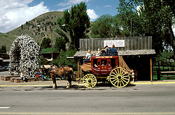 WY: town of Jackson Hole, Wyoming, near Grand Teton National Park.Photo Copyright: Lee Foster, lee@fostertravel.com, www.fostertravel.com, (510) 549-2202.Image: wygran203
