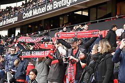 October 28, 2018 - Rennes, France - ILLUSTRATION - SUPPORTERS - ECHARPES (Credit Image: © Panoramic via ZUMA Press)