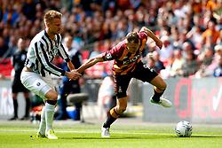 Charlie Wyke of Bradford City takes on Jed Wallace of Millwall - Mandatory by-line: Matt McNulty/JMP - 20/05/2017 - FOOTBALL - Wembley Stadium - London, England - Bradford City v Millwall - Sky Bet League One Play-off Final