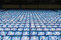 Football - 2014 / 2015 Premier League - Chelsea vs. Sunderland.   <br /> <br /> Rows of seats lined with flags and banners ahead of the game against Sunderland<br /> <br /> COLORSPORT/DANIEL BEARHAM