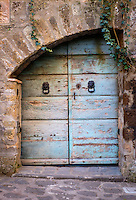 CIVITA DI BAGNOREGIO ITALY - CIRCA MAY 2015: Old rusted door in Civita di Bagnoregio.