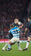 Twickenham, United Kingdom. Mike BROWN,  run's into the high ball, during the Old Mutual Wealth Series Rest Match: England vs Argentina, at the RFU Stadium, Twickenham, England, <br /> <br /> Saturday  26/11/2016<br /> <br /> [Mandatory Credit; Peter Spurrier/Intersport-images]
